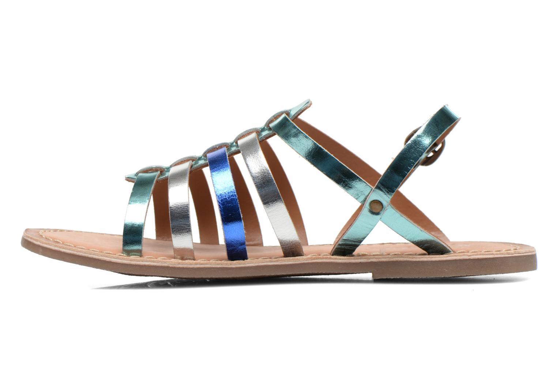 Sandales et nu-pieds Kickers Dixmillion Bleu vue face