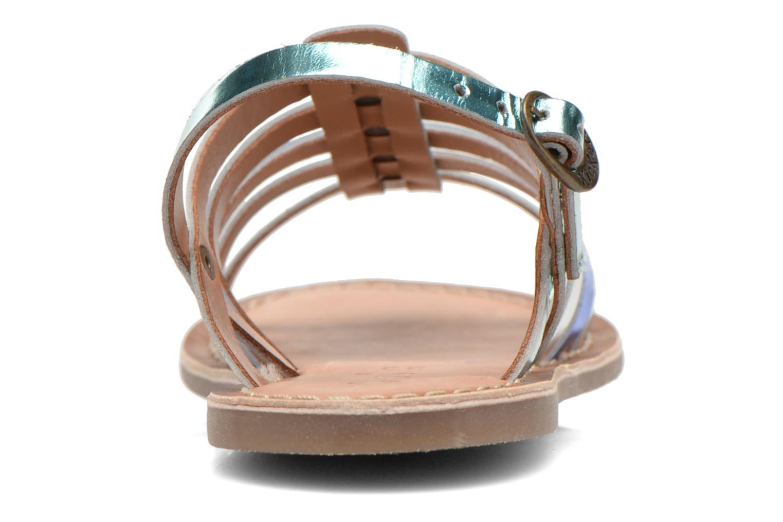 Sandales et nu-pieds Kickers Dixmillion Bleu vue droite