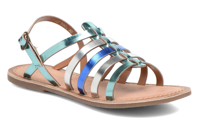 Sandales et nu-pieds Kickers Dixmillion Bleu vue détail/paire
