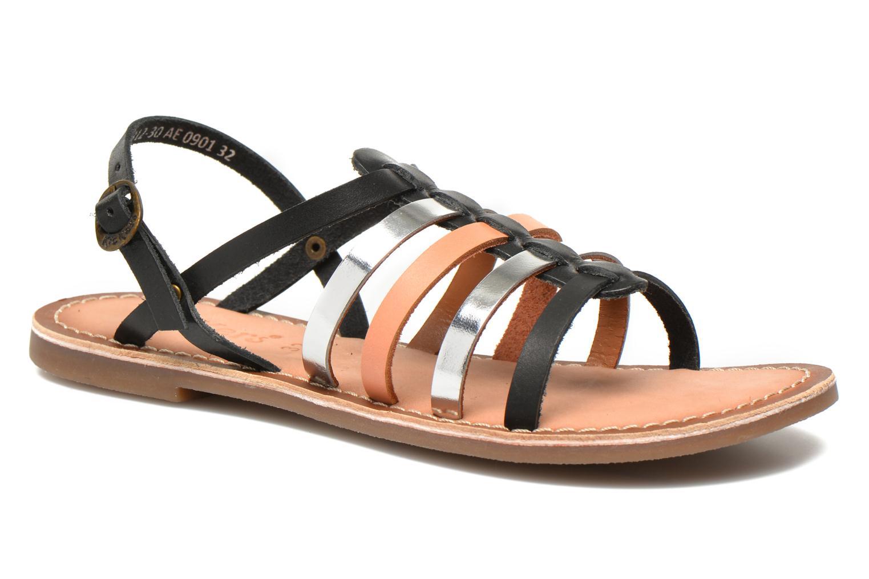 Sandaler Kickers Dixmillion Sort detaljeret billede af skoene