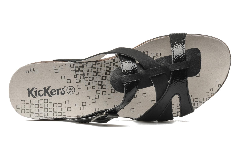 Sandales et nu-pieds Kickers Dolia Noir vue gauche