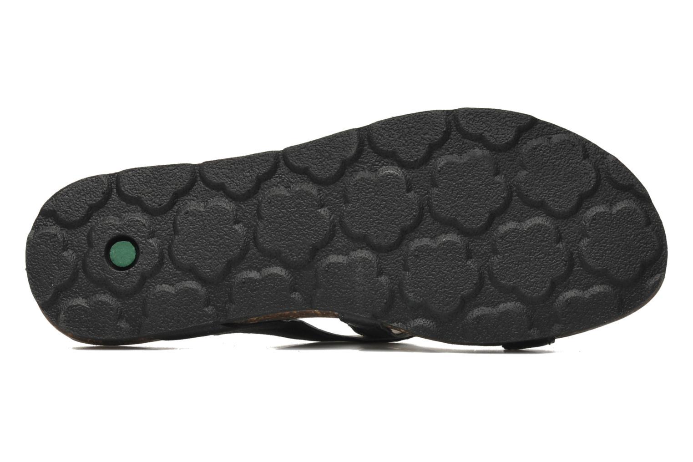 Sandales et nu-pieds Kickers Dolia Noir vue haut
