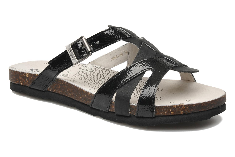 Sandales et nu-pieds Kickers Dolia Noir vue détail/paire