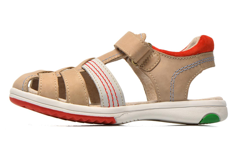 Sandalen Kickers Platinium grau ansicht von vorne