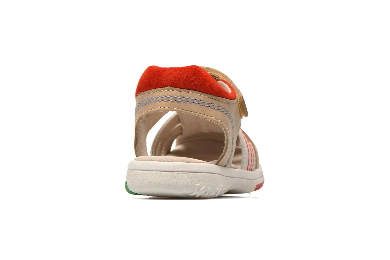 Sandalen Kickers Platinium grau ansicht von rechts