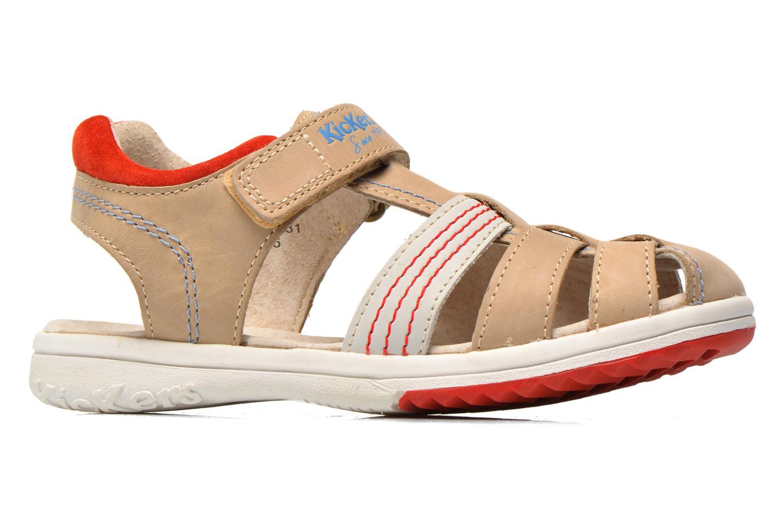 Sandalen Kickers Platinium grau ansicht von hinten