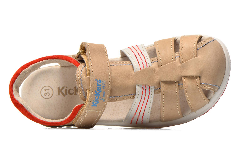 Sandalen Kickers Platinium grau ansicht von links