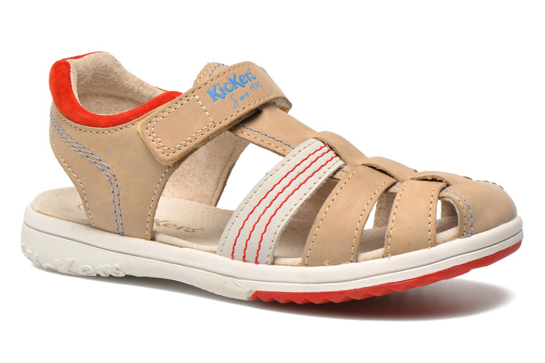 Sandales et nu-pieds Kickers Platinium Gris vue détail/paire