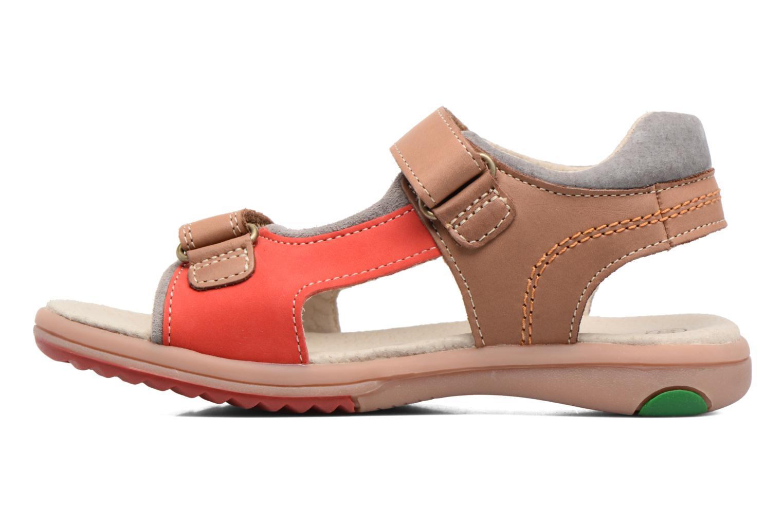 Sandales et nu-pieds Kickers Platino Beige vue face
