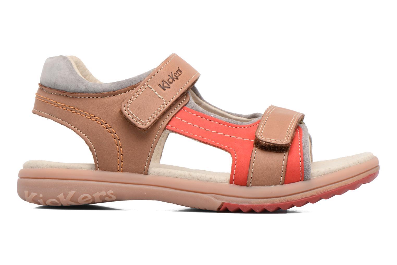 Sandales et nu-pieds Kickers Platino Beige vue derrière