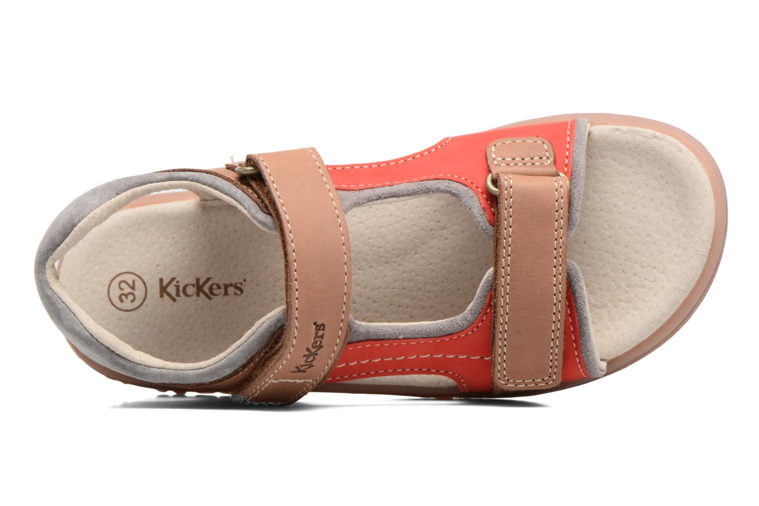 Sandalen Kickers Platino Beige links