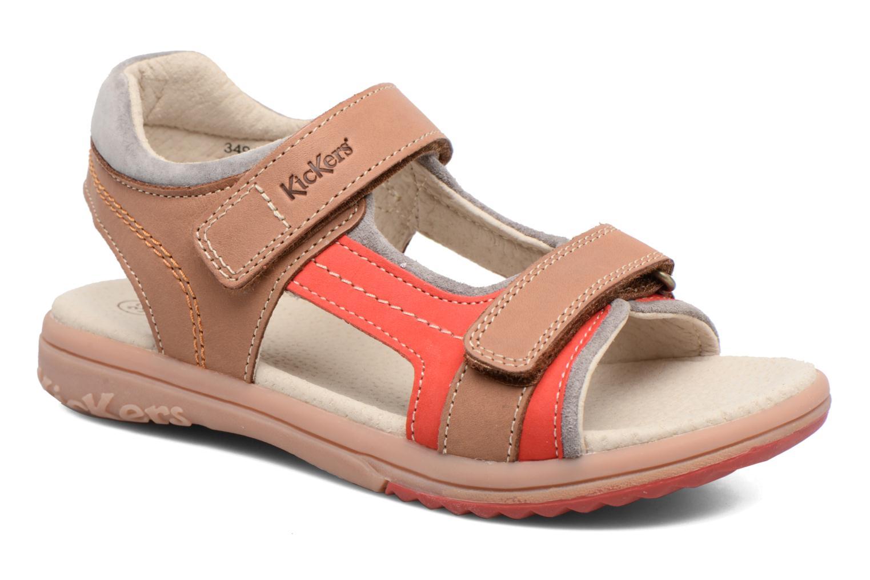 Sandales et nu-pieds Kickers Platino Beige vue détail/paire
