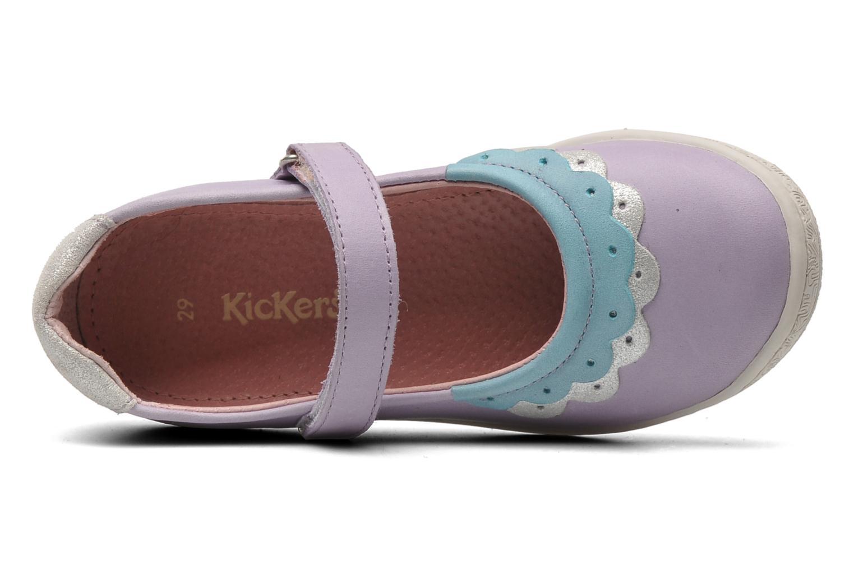 Ballerinas Kickers Cakegirl lila ansicht von links