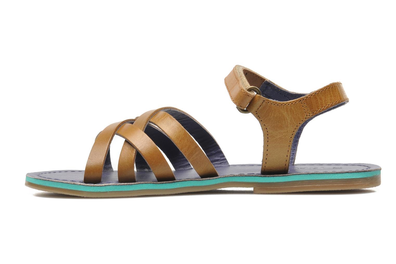 Sandales et nu-pieds Kickers Parallelo Marron vue face