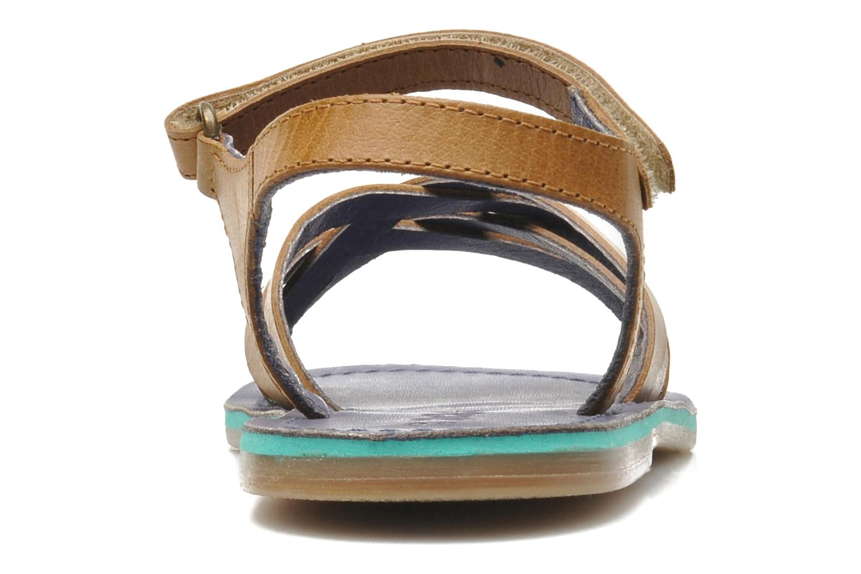 Sandales et nu-pieds Kickers Parallelo Marron vue droite
