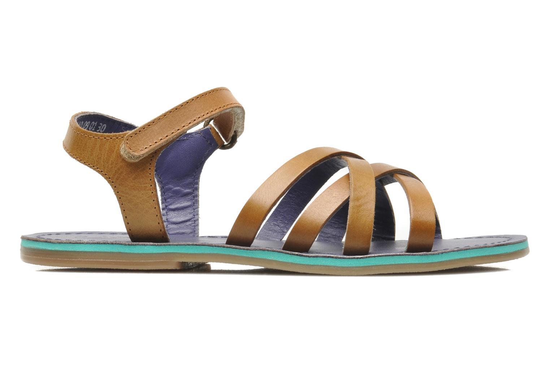 Sandales et nu-pieds Kickers Parallelo Marron vue derrière
