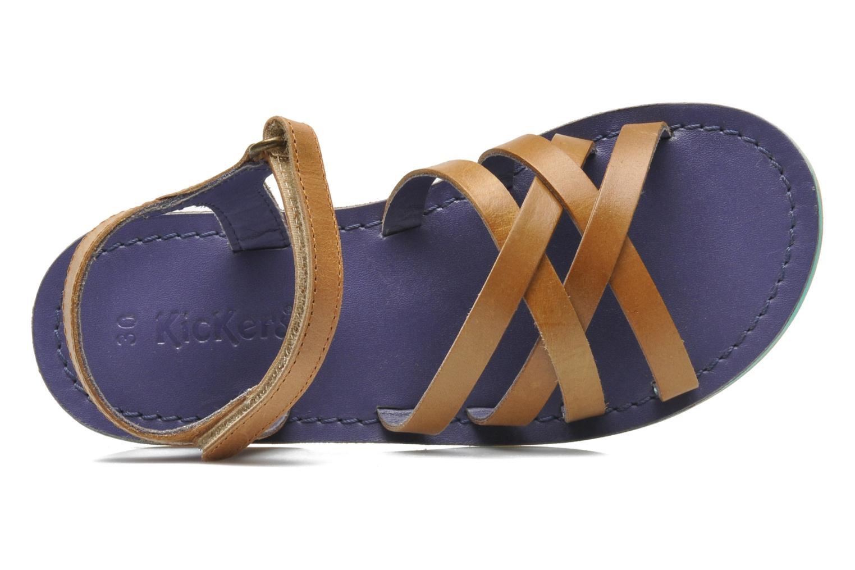 Sandales et nu-pieds Kickers Parallelo Marron vue gauche