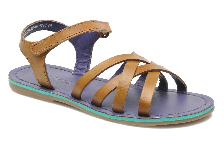Sandales et nu-pieds Kickers Parallelo Marron vue détail/paire