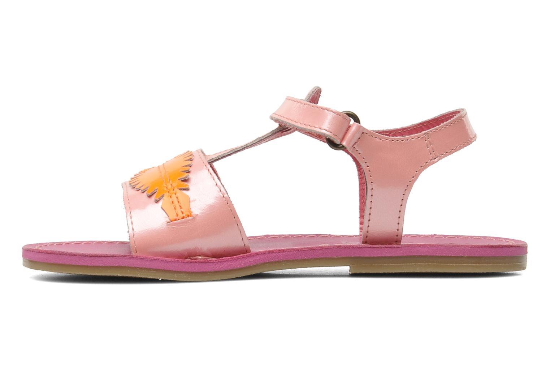 Sandales et nu-pieds Kickers Parapluie Rose vue face