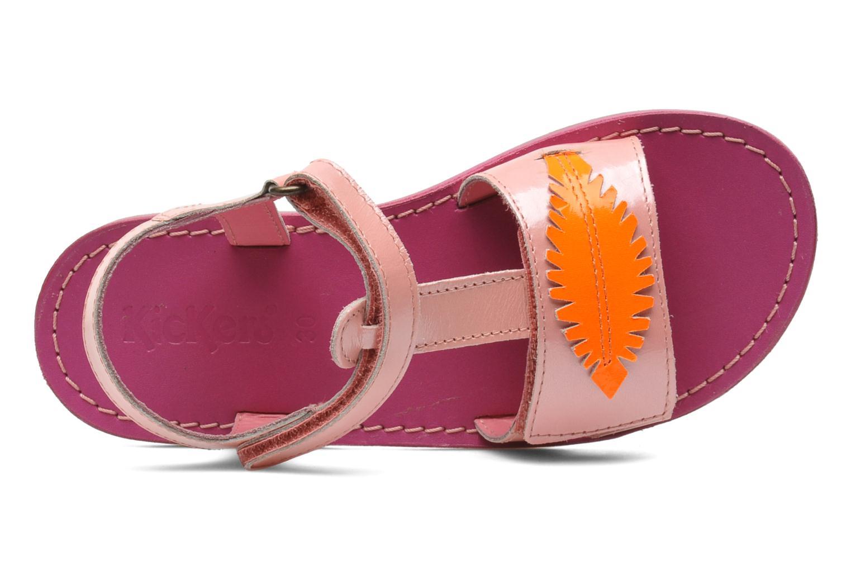 Sandales et nu-pieds Kickers Parapluie Rose vue gauche