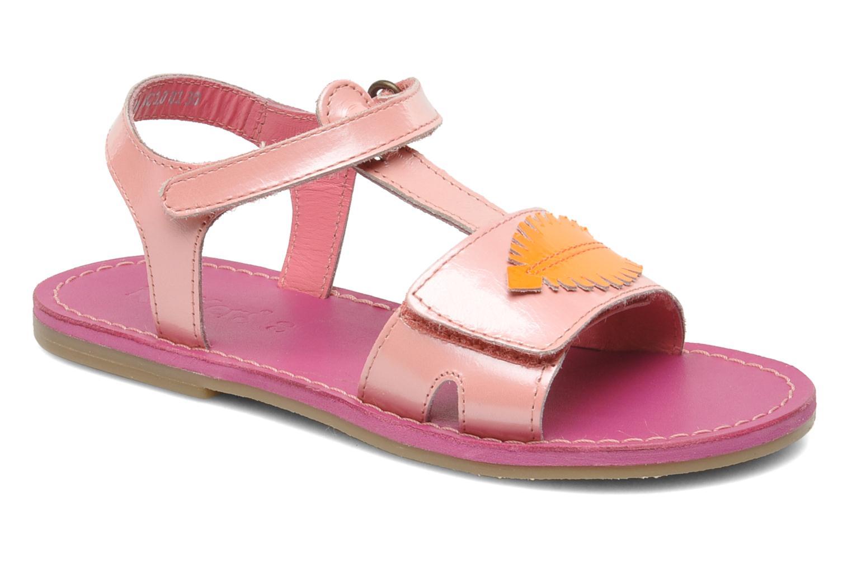 Sandales et nu-pieds Kickers Parapluie Rose vue détail/paire