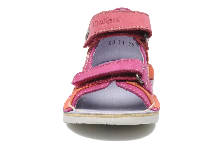 Sandales et nu-pieds Kickers Wasabi Bis Rose vue portées chaussures