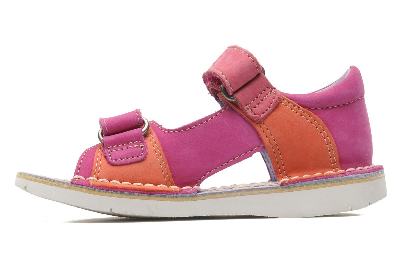 Sandalen Kickers Wasabi Bis rosa ansicht von vorne