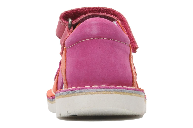 Sandalen Kickers Wasabi Bis rosa ansicht von rechts