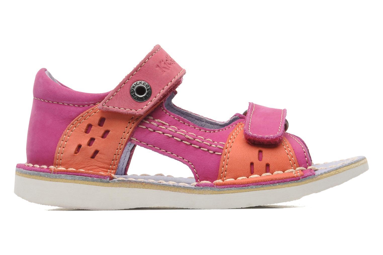 Sandalen Kickers Wasabi Bis rosa ansicht von hinten