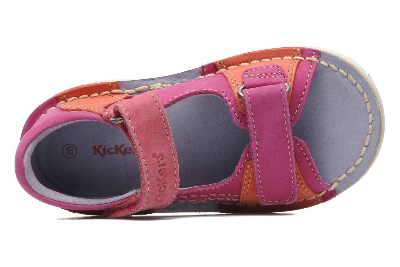 Sandalen Kickers Wasabi Bis rosa ansicht von links