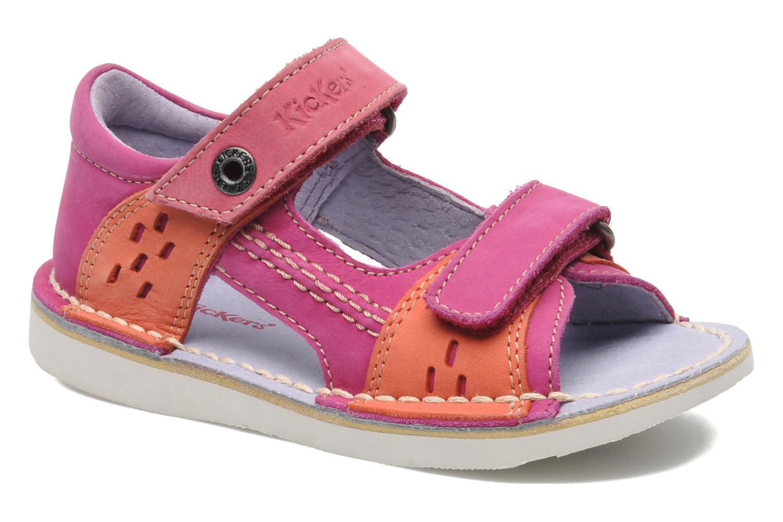 Sandales et nu-pieds Kickers Wasabi Bis Rose vue détail/paire