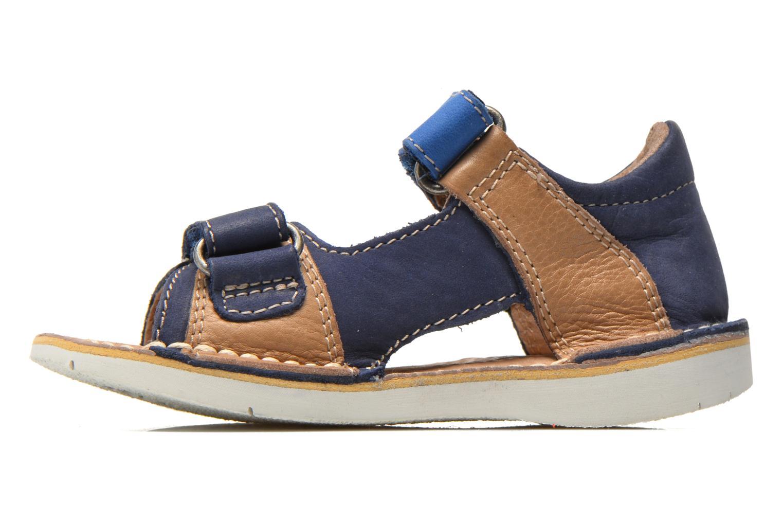 Sandalen Kickers Wasabi Bis blau ansicht von vorne