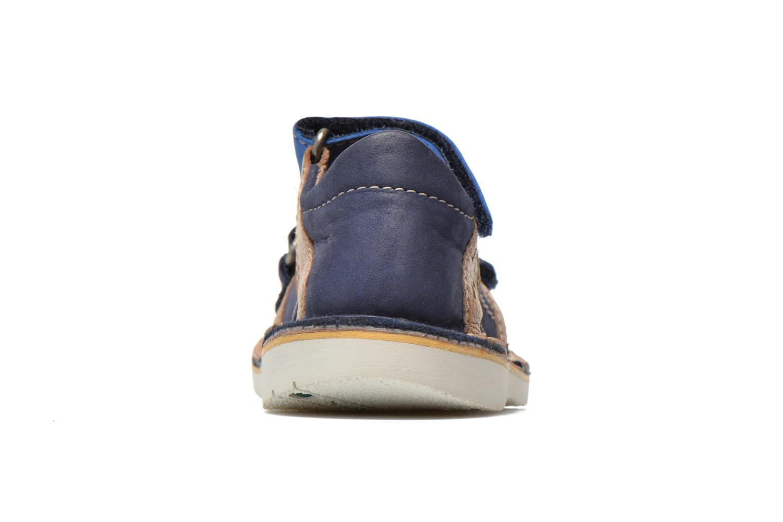 Sandalen Kickers Wasabi Bis blau ansicht von rechts