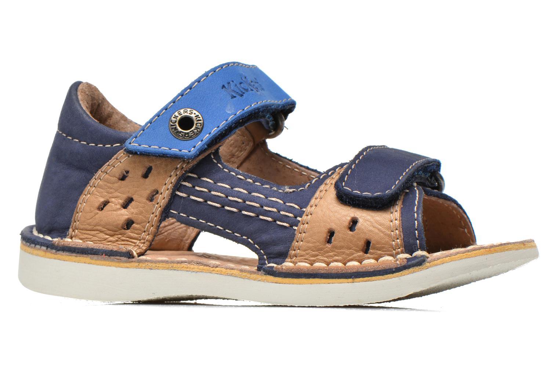 Sandalen Kickers Wasabi Bis blau ansicht von hinten