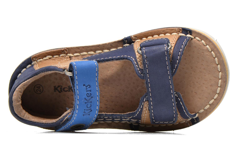 Sandalen Kickers Wasabi Bis blau ansicht von links