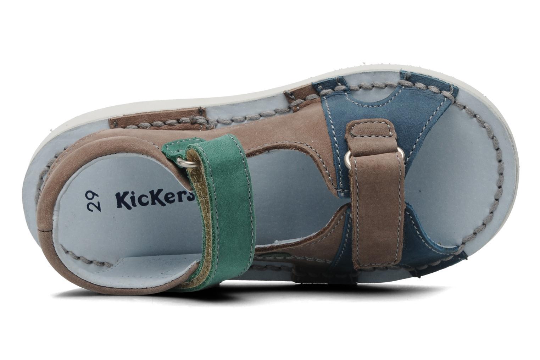 Sandalen Kickers Woazaki Bis Grijs links