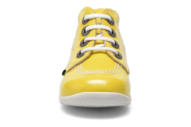 Bottines et boots Kickers Billista Jaune vue portées chaussures