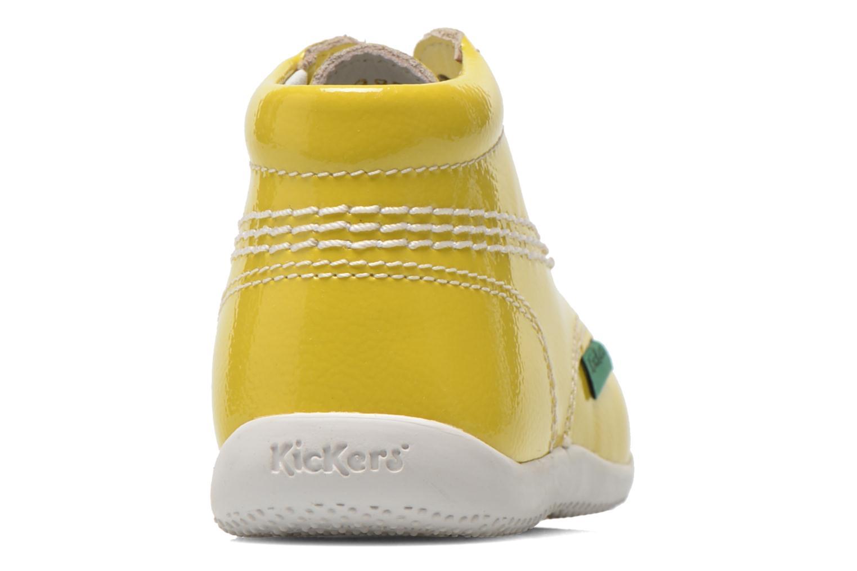 Boots en enkellaarsjes Kickers Billista Geel rechts