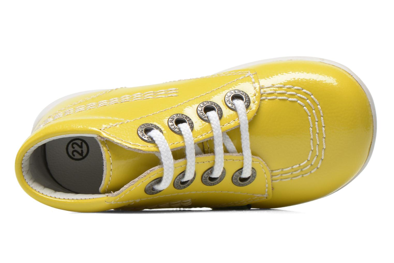 Boots en enkellaarsjes Kickers Billista Geel links