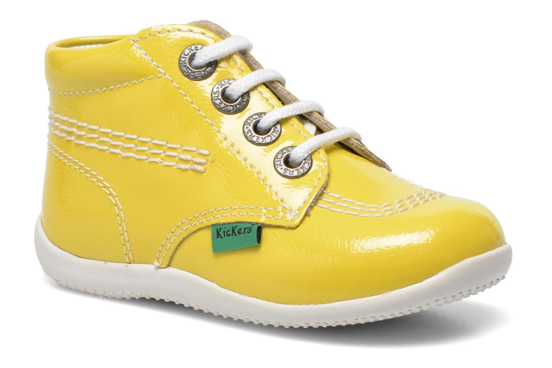 Boots en enkellaarsjes Kickers Billista Geel detail