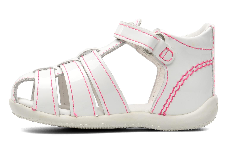 Sandalen Kickers Bigflo weiß ansicht von vorne