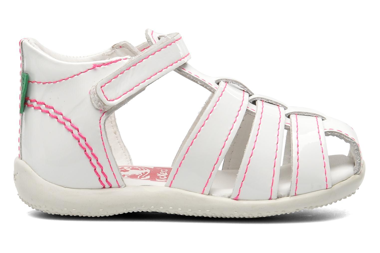 Sandales et nu-pieds Kickers Bigflo Blanc vue derrière