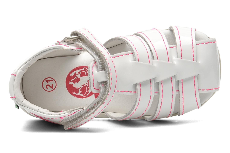 Sandalen Kickers Bigflo weiß ansicht von links