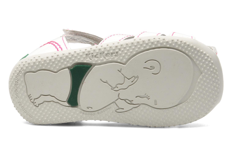 Sandales et nu-pieds Kickers Bigflo Blanc vue haut