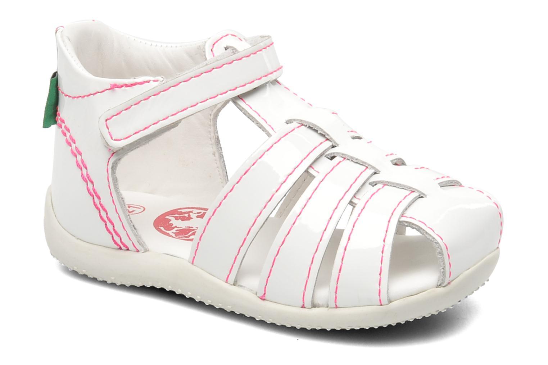 Sandales et nu-pieds Kickers Bigflo Blanc vue détail/paire