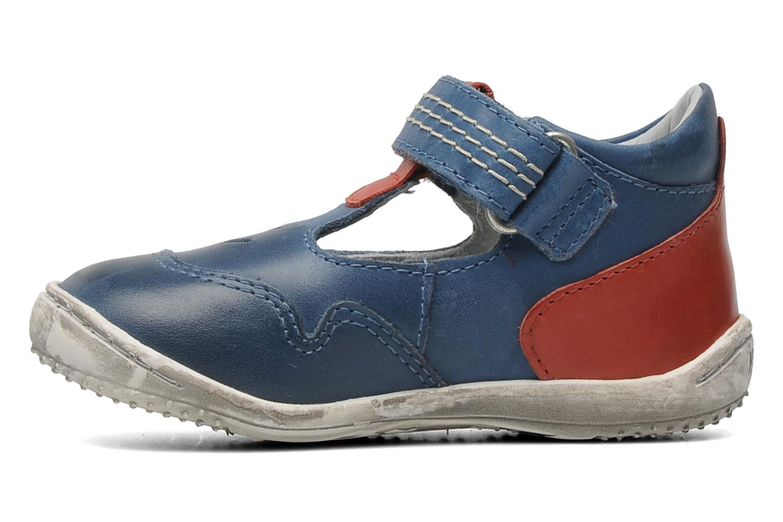 Sandales et nu-pieds Kickers Gusto Bleu vue face