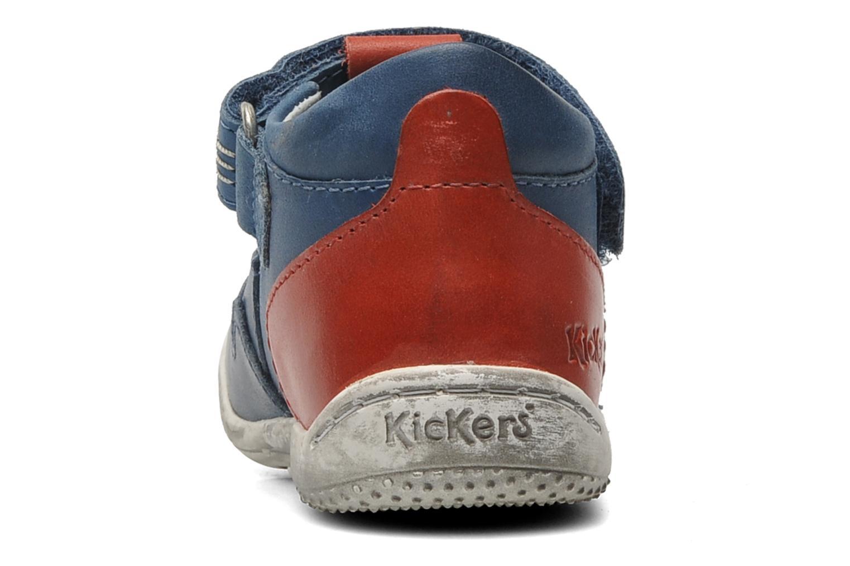 Sandales et nu-pieds Kickers Gusto Bleu vue droite