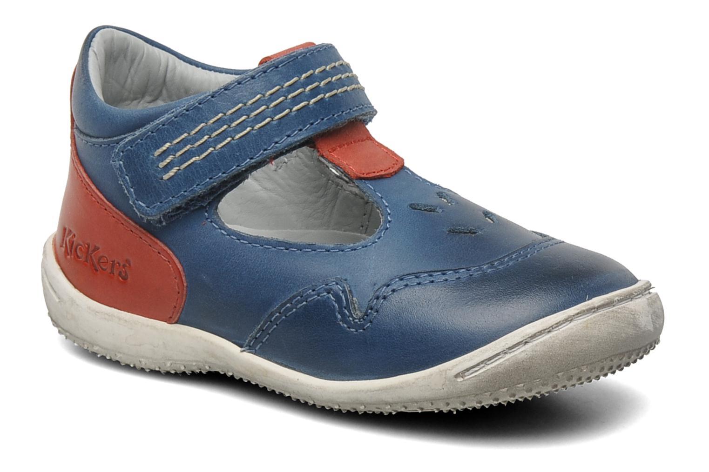 Sandales et nu-pieds Kickers Gusto Bleu vue détail/paire