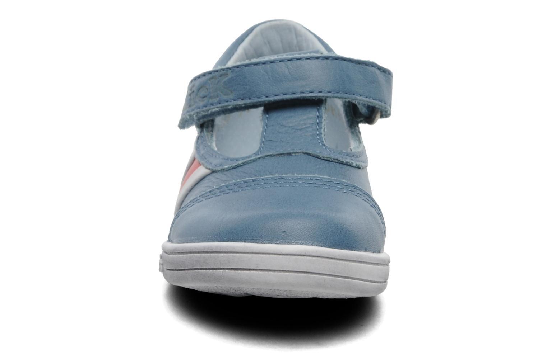 Chaussures à scratch Kickers Troy Bleu vue portées chaussures
