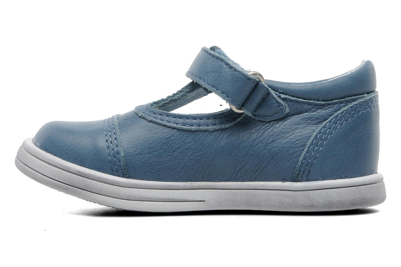 Chaussures à scratch Kickers Troy Bleu vue face
